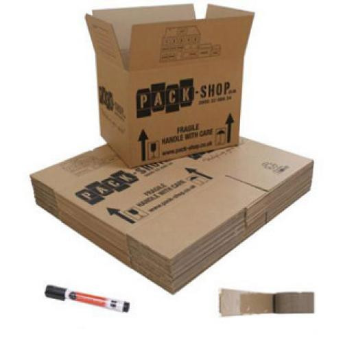 20 Budget Moving Boxes Pack