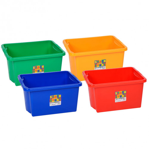 Colourful 35 Litre Storage Box | Plastic Stackable Boxes  sc 1 st  Packing Boxes & 35 Litre Storage Box | Plastic Stackable Boxes Aboutintivar.Com