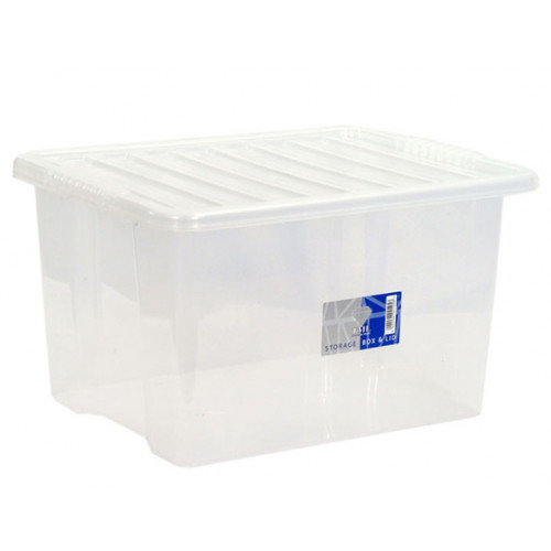30 Litre Clear Storage Box. Plastic Stoage Box  sc 1 st  Packing Boxes & 30 Litre Plastic Storage Box