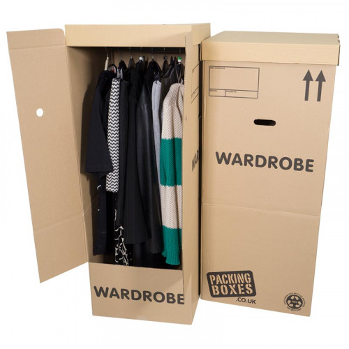 Wardrobe Boxes X 5 Pack For Hanging Clothes Storage