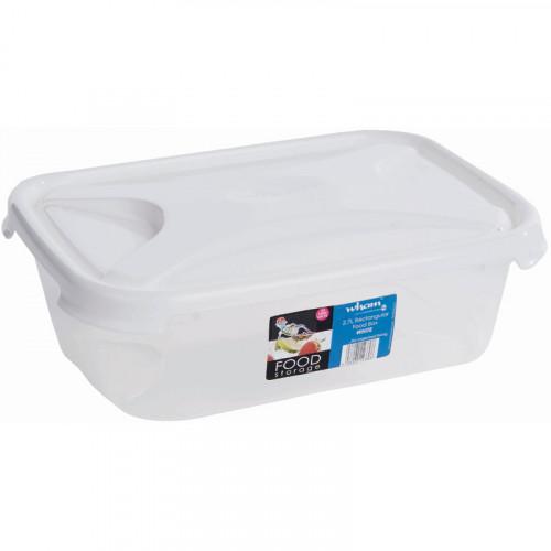 2.7 Litre Clear Plastic Food Box | Food Grade Plastic