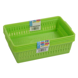 Set of 5 Small Green Handy Baskets