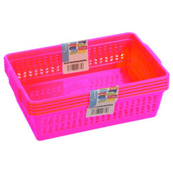 Set of 5 Small Pink Handy Baskets