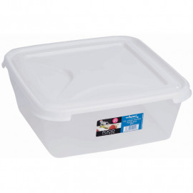 10 Litre Clear Rectangular Food Box & Lid
