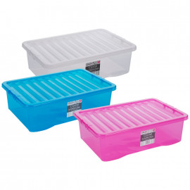 32 Litre Clear Boxes and Lids