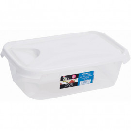 4.5 Litre Clear Rectangular Food Box & Lid