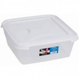 10 Litre Clear Rectangular Food Box & Lid