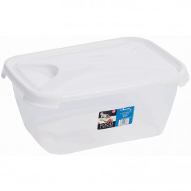 6 Litre Clear Rectangular Food Box & Lid