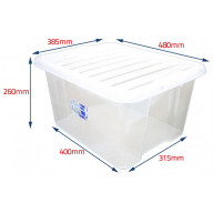 35lt Clear Storage Box