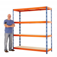 Max 1 Heavy Duty Shelving 2000 H x 2400 W x 600 D