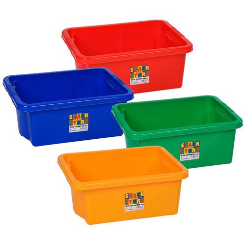 Stackable 16 Litre Storage Box | Colourful Plastic Boxes