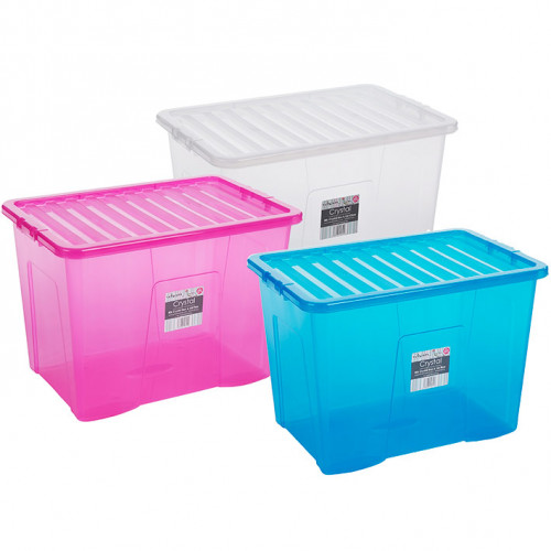 80 Litre Storage Box | Transparent Plastic Boxes