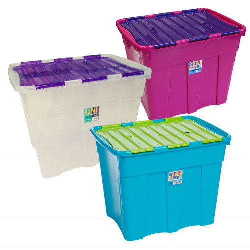 80 Litre Crocodile Lid Storage Box | Plastic Boxes with Hinged Lids