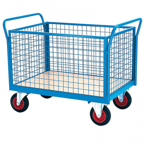 Warehouse Picking Trolley with Sides