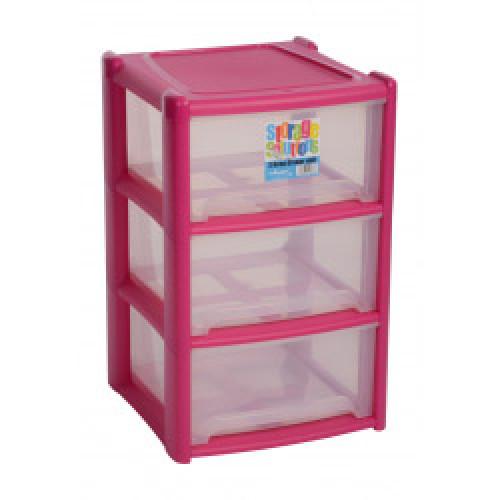 Deep 3 Draw Unit Pink