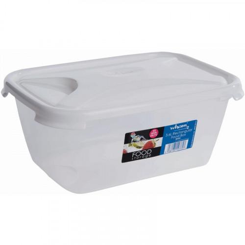 3.6 Litre Clear Food Storage Box | Clip on Lids