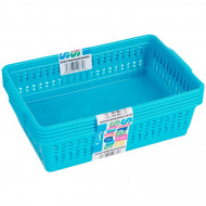 Set of 5 Small Blue Handy Baskets
