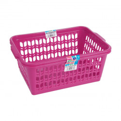 Set of 2 Large Pink Handy Baskets