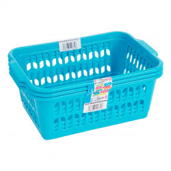 Set of 3 Medium Blue Handy Baskets