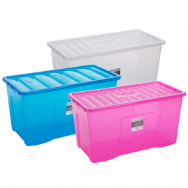 110 Litre Clear Boxes and Lids