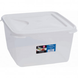 15 Litre Clear Rectangular Food Box & Lid