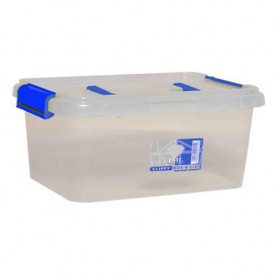 15 Litre Clear Storage Box with Clip on Lid