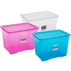 80 Litre Clear Boxes and Lids