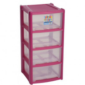 Deep 4 Draw Unit Pink