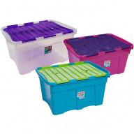 54 Litre Box with Crocodile Lid | Storage Box with Hinged Lid